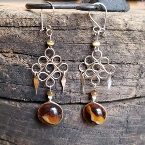 Peruvian Alpaca Silver Earrings Boho